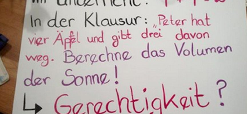 Plakat der Demo in NRW: Abi-Matheklausur