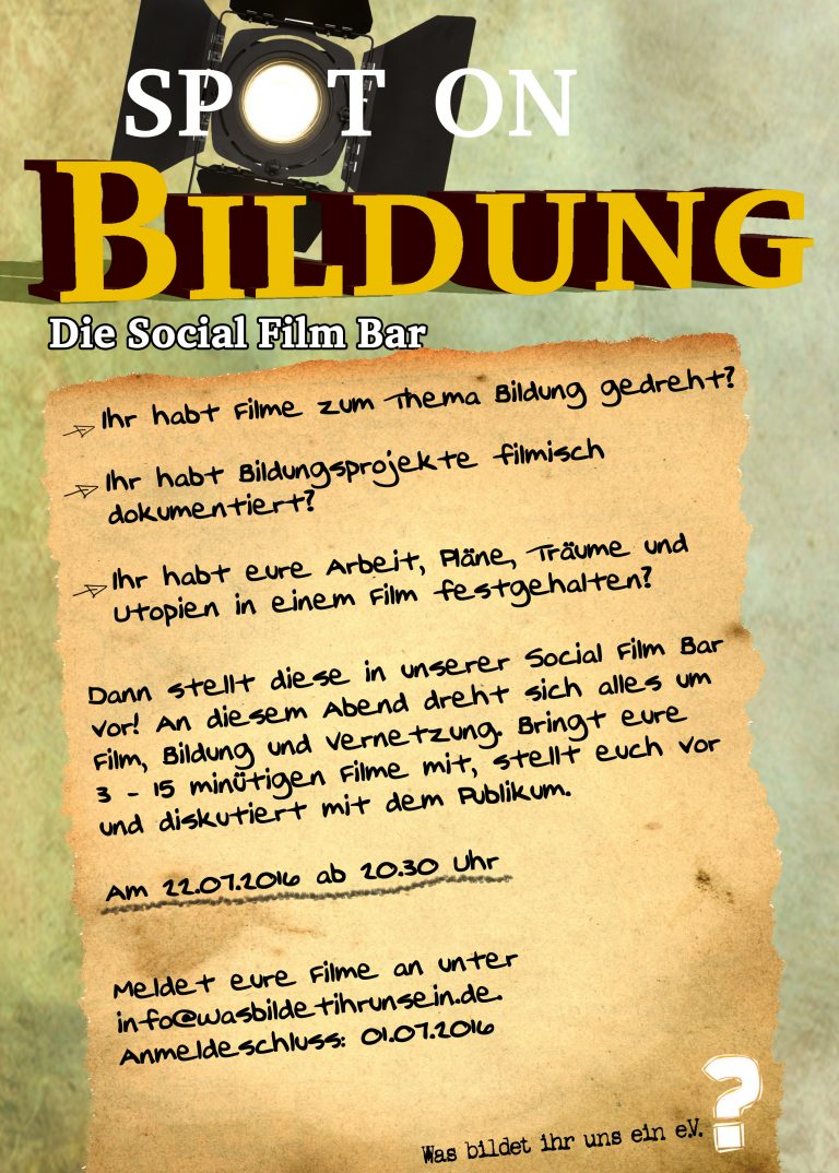 Aktuell: Social-Film-Bar am 22.07.2016